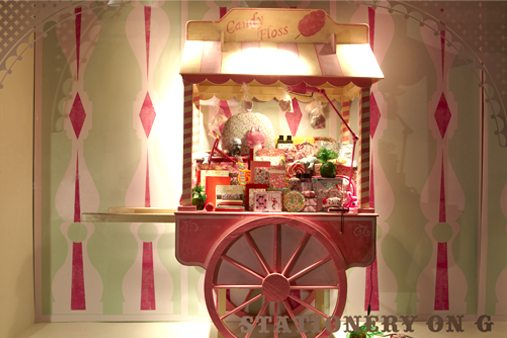 Alternate image of candyfloss cart, designed by Prop Studios especially for Liberty