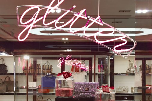 Prop Studios produced the Give Glitter window scheme at our in-house production facility