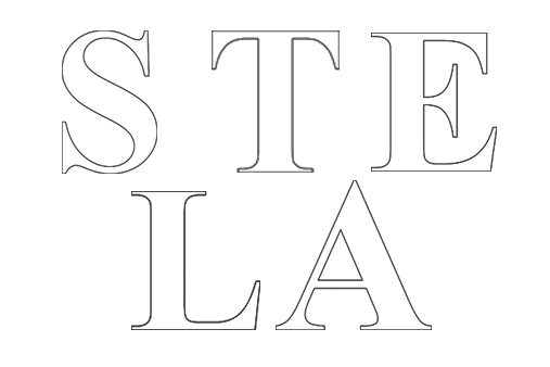 The letters on each block spelt out 'SALE' as well as including the letters of Stella's name
