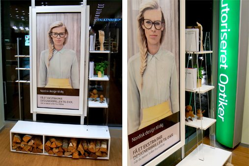 Prop Studios' concept for this window display was based on Specsavers' Nordic design collection