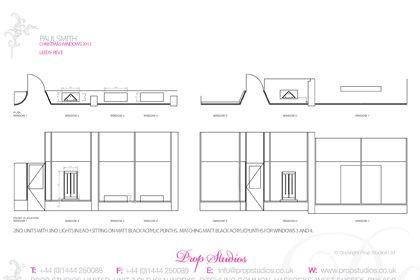 Prop Studios' full design blueprint for the Paul Smith window scheme