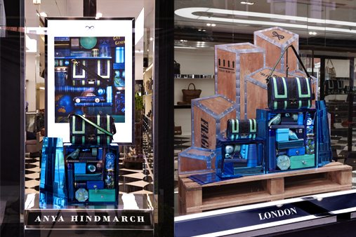 This window scheme was designed as part of the Anya Hindmarch's developing autumn/winter line