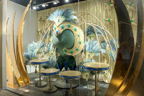 Third carnival-themed window display, created for Al Rubaiyat by Prop Studios