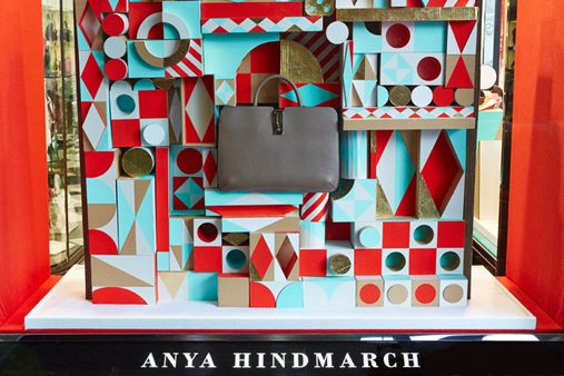 Prop Studios produced these window schemes for Anya Hindmarch at our in-house production facility