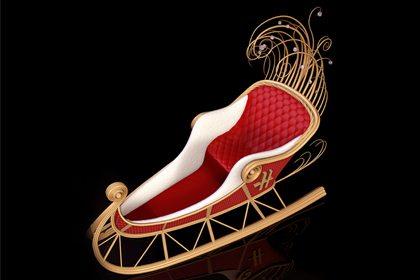Alternative image depicting Prop Studios design for the Harrods Christmas sleigh