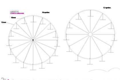 Technical drawing to show how Prop Studios' Ferris wheel would be constructed within the Liberty window