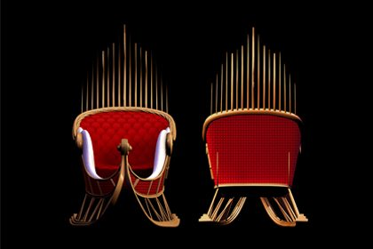 Multiple angle image showing the sleigh