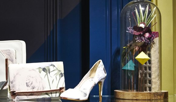 For the Ted Baker interior, Prop Studios created bespoke installations using taxidermied birds and mason jars