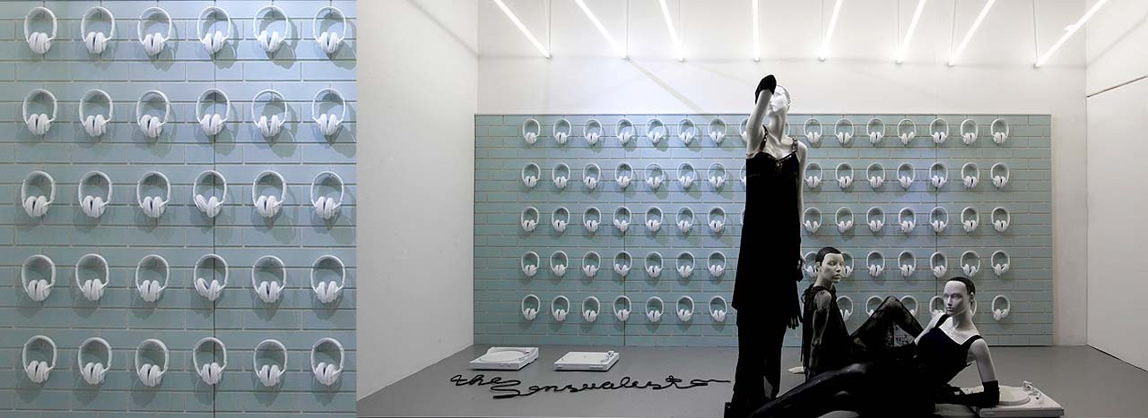 Industrial themed window scheme created exclusively for Selfridges by Prop Studios