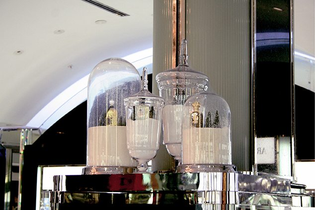 Image showing four of the jars and vases created exclusively for Harrods by Prop Studios