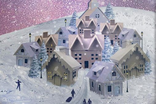 Prop Studios created three themes for the bespoke snowglobes – village, park and alpine