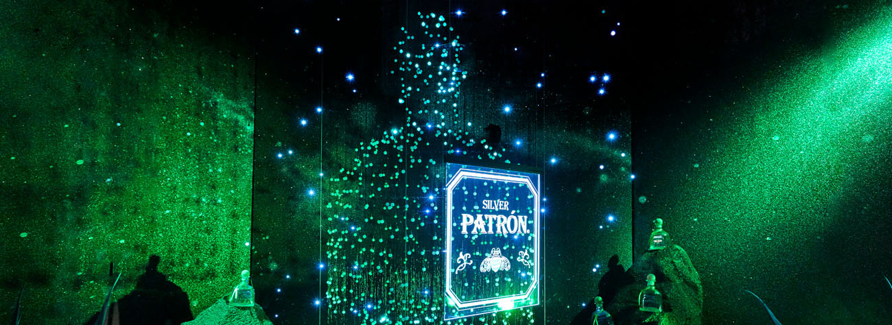 Image of the lighting and sculpture within Prop Studios' window display to promote Patron at Selfridges