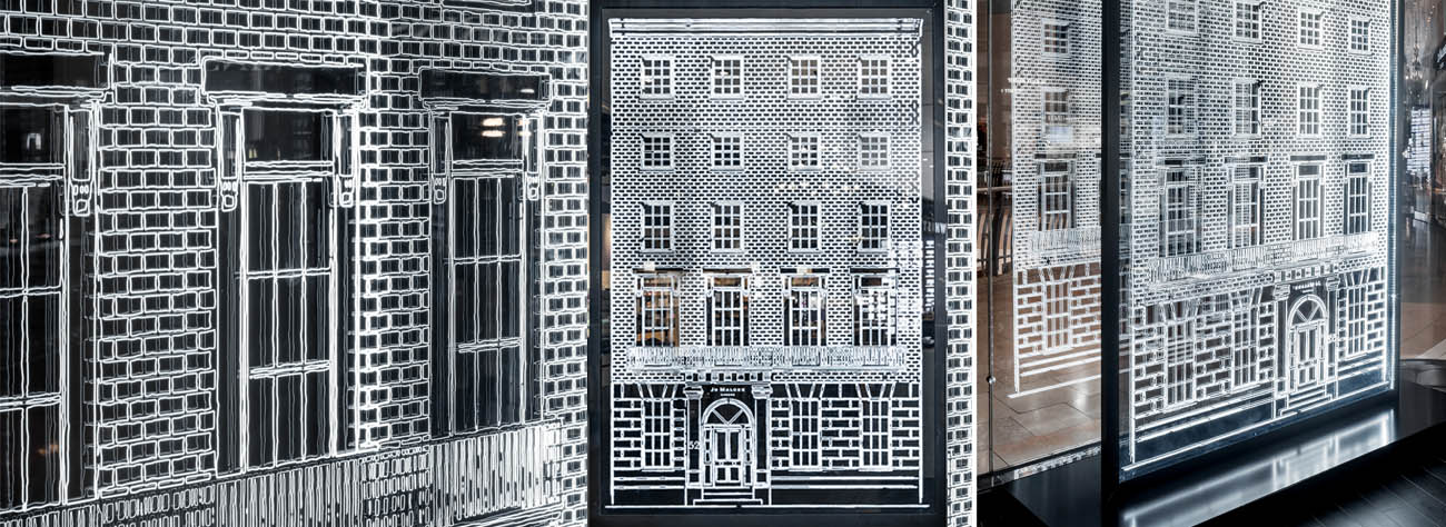 A Jo Malone townhouse design window