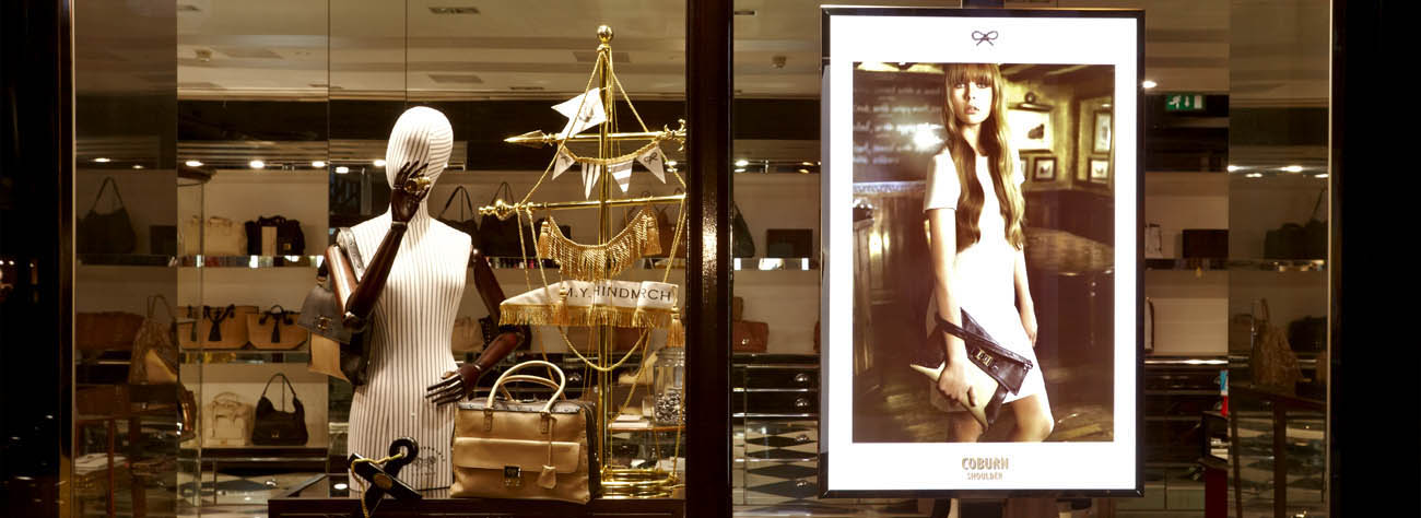 Full shot of one of the Anya Hindmarch windows designed by Prop Studios with a nautical theme