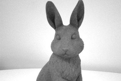 Prop Studios' digital rendering of the rabbit sculpture