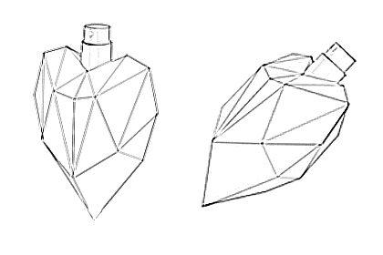 Prop Studios line drawing design for the bottles