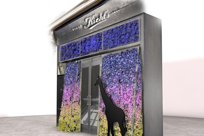Prop Studios' 3D mock-up window display for Kiehl's