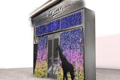 Prop Studios' 3D mock-up window display for Kiehl's