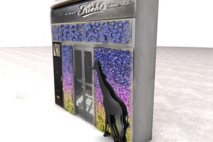 3D design concept for Kiehl's window display