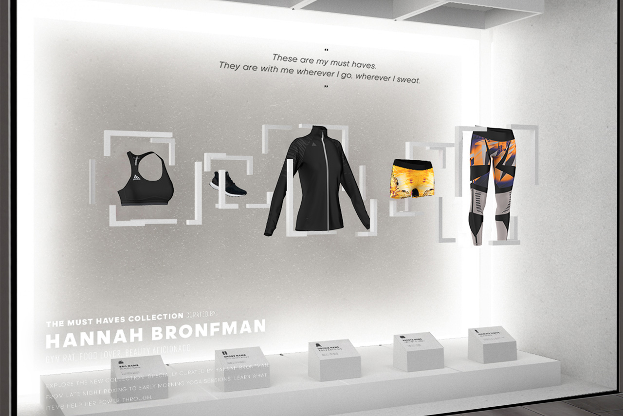 Full image showing further designs created by Prop Studios for Adidas's