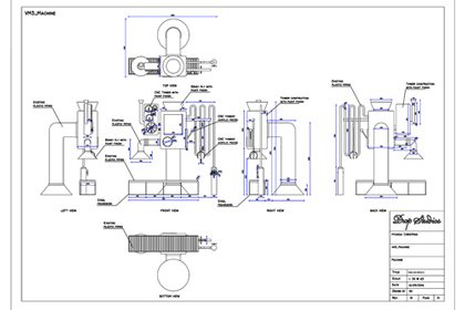 Original technical drawing showing the design of one of the festive installations created for Hyundai by Prop Studios