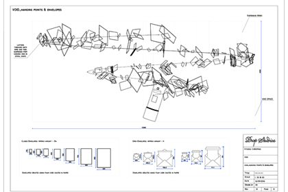 Technical drawing showing the design of one of the instore installations created for Hyundai by Prop Studios