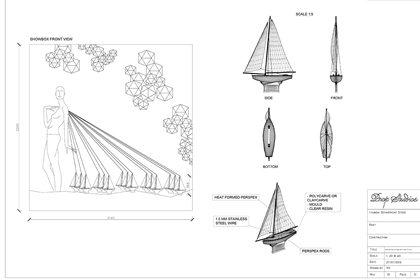 Original retail design concept of Prop Studios' instore experience for Hyundai Department Store