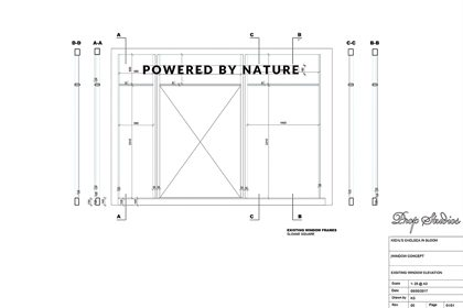 Initial retail design blueprint designed by Prop Studios for the Kiehl's