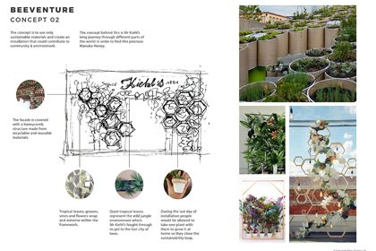 Additional retail design concept designed by Prop Studios for Kiehl's Chelsea In Bloom campaign