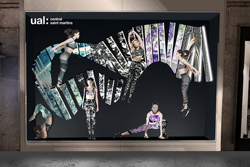 Prop Studios used neutral tones to allow the heroes of the piece, the partnership of youthful creative design and innovative high-quality Lululemon product, to take centre stage