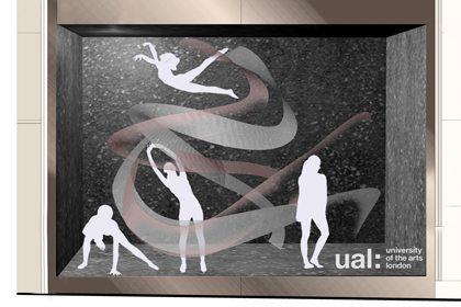 Prop Studios' design sketch showing the initial concept of the Lululemon window
