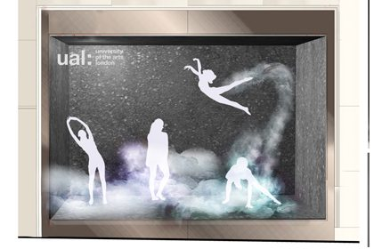 Alternative design concept showing the Prop Studios window design for Lululemon
