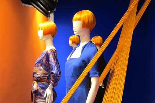 Prop Studios also created and installed a series of bespoke mannequins, designed with Mary Portas's trademark orange bob hairdo