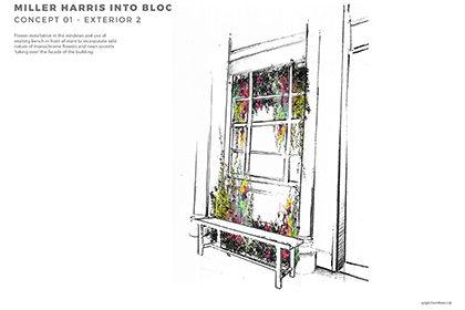 Concept design for exterior of Miller Harris store