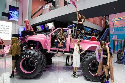 Full image depicting Prop Studios' eye-catching Missguided monster truck