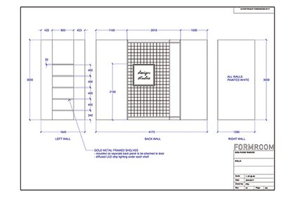 Blueprint for store layout