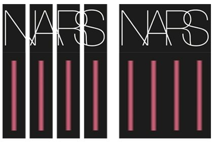 Mock-up design of the NARS window display