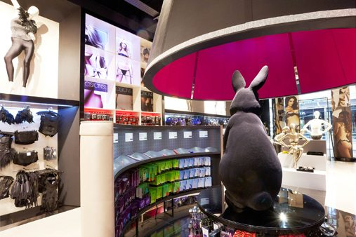 The sculpture towered over the shelves in Ann Summers' flagship store