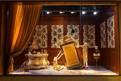 Image of Prop Studios' final window display for Al Rubaiyat