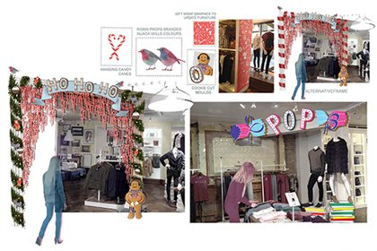 Initial design concepts created by Prop Studios for the Jack Wills store
