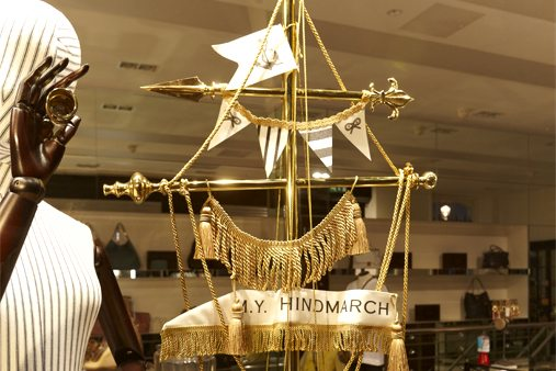 Alternate shot of Prop Studios' boat design, part of our nautical themed window display for Anya Hindmarch