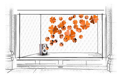 Prop Studios' original concept sketch for Folli Follie window display at Selfridges