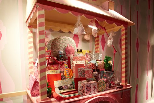 Prop Studios' hand-built candyfloss cart, designed especially for Liberty department store in London
