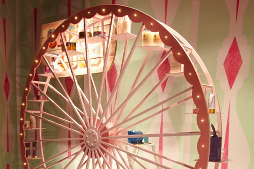 Ferris wheel, created exclusively for Prop Studios' fairground-themed window scheme for Liberty