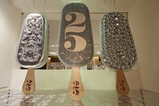 Prop Studios' final Make My Magnum window display, marking 25 years of the ice cream brand