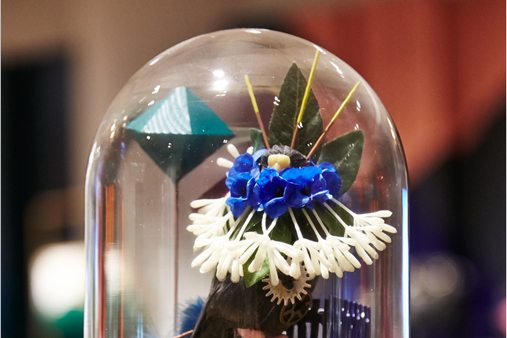 Close-up image of one of the jars created by Prop Studios for Ted Baker