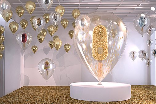 Prop Studios depicted the Magnum brand in various ways, including a 2.5 metre, acrylic balloon encasing a gold encrusted giant Magnum lolly