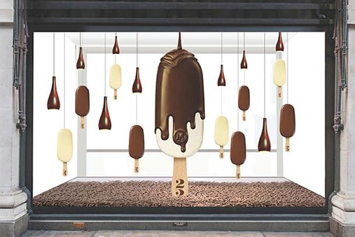 One of the four Wonder Room windows designed for Magnum exclusively by Prop Studios