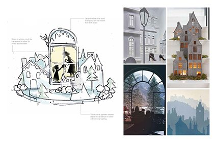 Our hand-sketched concepts allowed Hyundai to visualise the portrayal of the emotional festive stories the store was looking to convey