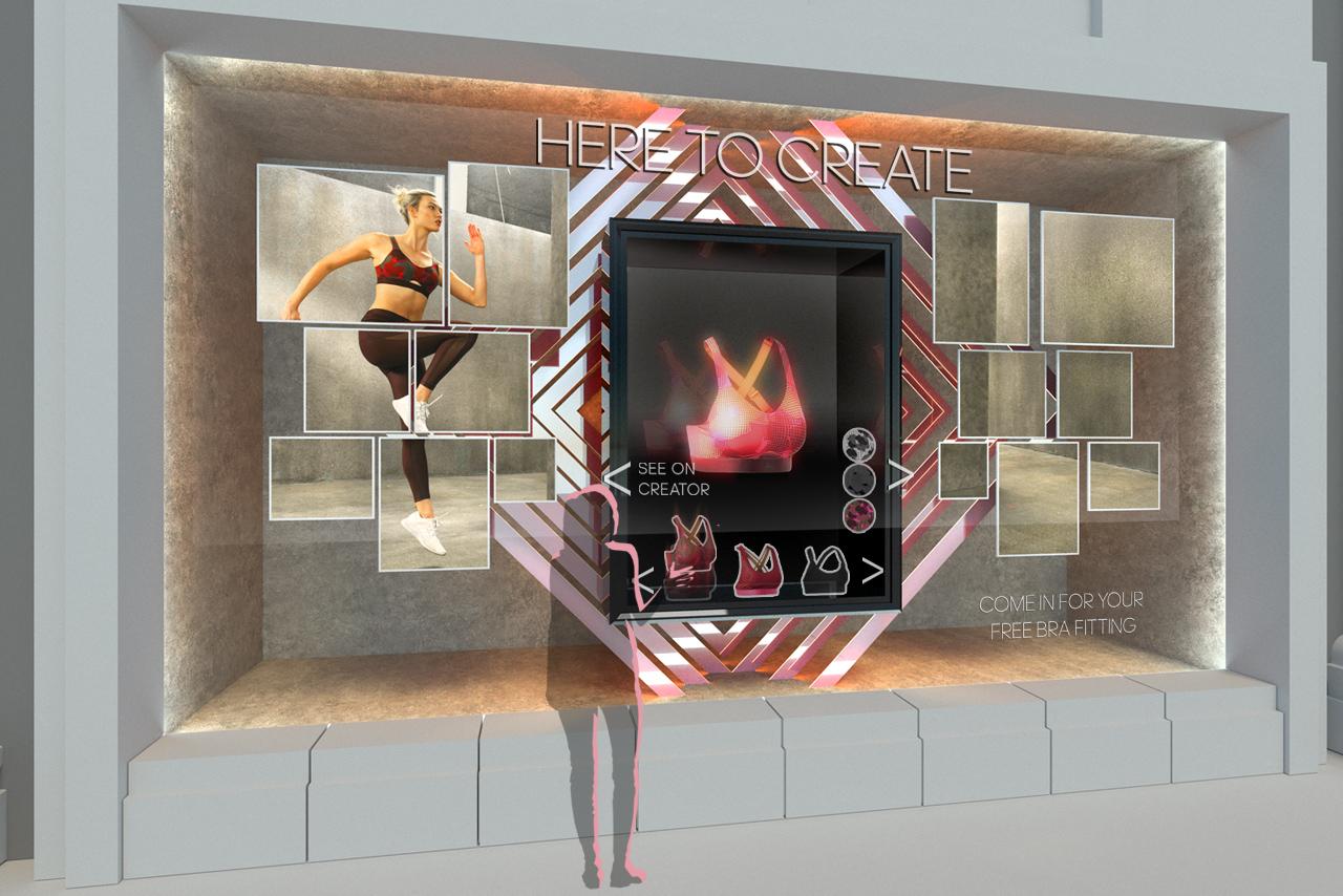 Adidas Window Design | Design Concept 7 | Prop Studios